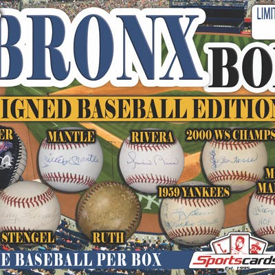 """""""THE BRONX MYSTERY BOX – SIGNED BASEBALL EDITION"""" -BABE RUTH, MANTLE"""