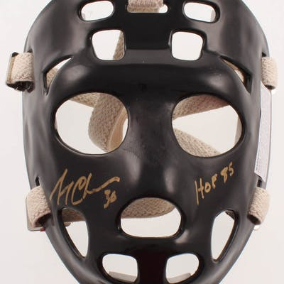 """Gerry Cheevers Signed Full-Size Throwback Goalie Mask Inscribed """"HOF"""