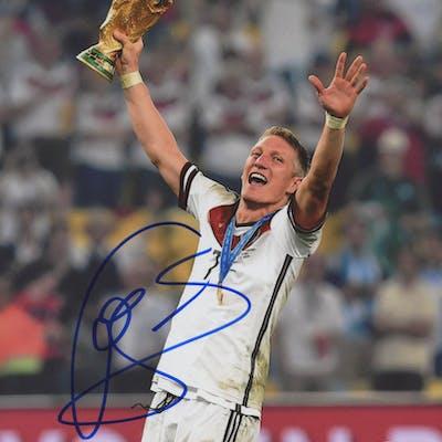 Bastian Schweinsteiger Signed Team Germany 8x10 Photo (Beckett COA)