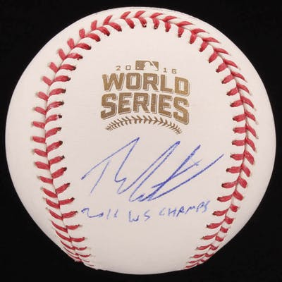 "Theo Epstein Signed 2016 World Series Baseball Inscribed ""2016 WS"