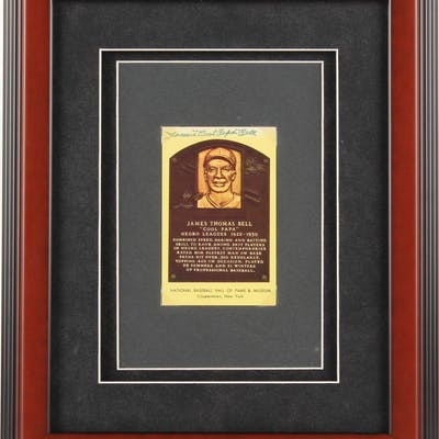 """James """"Cool Papa"""" Bell Signed 13x16 Custom Framed Gold Hall of Fame"""
