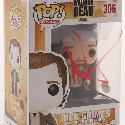 "Andrew Lincoln Signed ""The Walking Dead"" #306 Rick Grimes Funko Pop"
