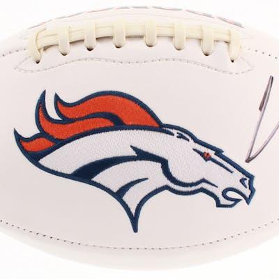 Chris Harris Jr. Signed Denver Broncos Logo Football (JSA COA)