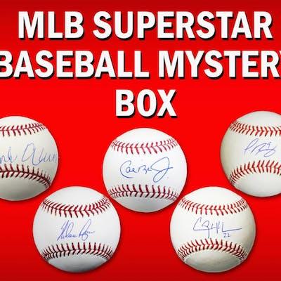 Schwartz Sports Baseball Superstar Signed MLB Baseball Mystery Box