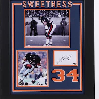 """Walter Payton Signed Chicago Bears """"Sweetness"""" 19.5x23.5 Custom Framed"""