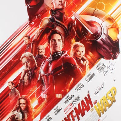 """""""Ant-Man and the Wasp"""" 27x40 Movie Poster Cast-Signed by (7) with"""