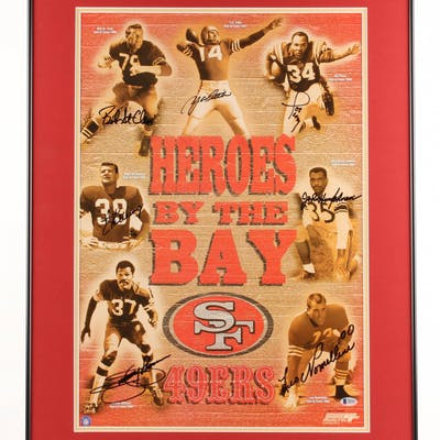 "San Francisco 49ers ""Heroes By The Bay"" 23x31 Custom Framed Photo"