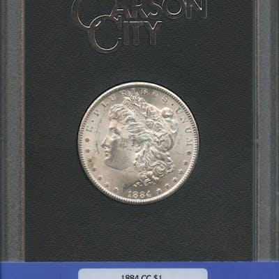 1884-CC $1 Morgan Silver Dollar (NGC MS 63)