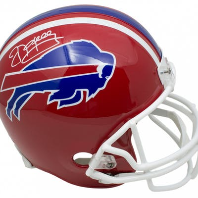 Jim Kelly Signed Buffalo Bills Full-Size Throwback Helmet (JSA COA)