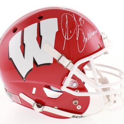 Melvin Gordon Signed Wisconsin Badgers Full-Size Helmet Inscribed