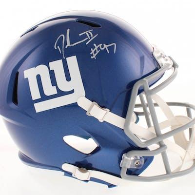 Dexter Lawrence Signed New York Giants Full-Size Speed Helmet (Radtke Hologram)