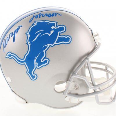 Kerryon Johnson Signed Detroit Lions Full-Size Helmet (Radtke COA)