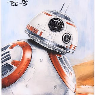 """Brian Herring Signed Thang Nguyen - BB-8 - """"Star Wars"""" 8x12 Limited"""