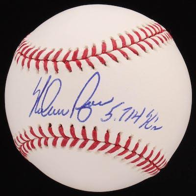 """Nolan Ryan Signed OML Baseball Inscribed """"5,714 K's"""" (Radtke COA &"""