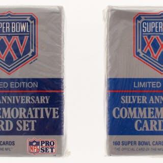 Lot of (2) Unopened 1990-91 Pro Set Super Bowl XXV Complete Set of
