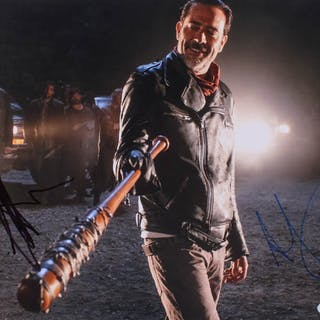 "Jeffrey Dean Morgan & Andrew Lincoln Signed ""The Walking Dead"" 11x14"