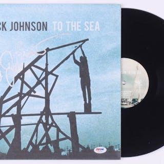 "Jack Johnson Signed ""To the Sea"" Vinyl Record Cover (PSA COA)"