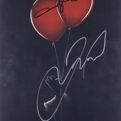 """Andres Muschietti & James McAvoy Signed """"IT Chapter Two"""" 12x18 Photo (PSA COA)"""