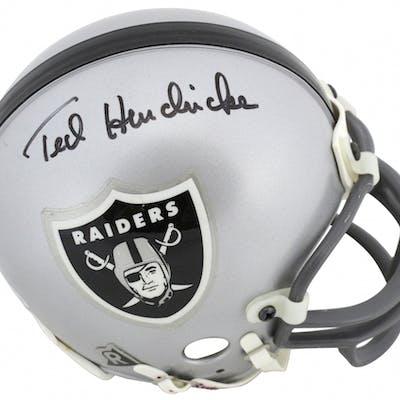 Ted Hendricks Signed Oakland Raiders Mini Helmet (Beckett COA)