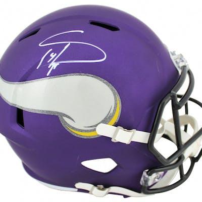 Stefon Diggs Signed Minnesota Vikings Matte Purple Full-Size Speed