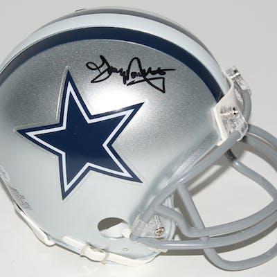 Tony Dorsett Signed Dallas Cowboys Mini Helmet (Beckett COA)