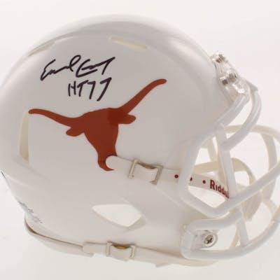 "Earl Campbell Signed Texas Longhorns Speed Mini Helmet Inscribed ""HT"