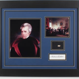 Andrew Jackson 19.5x23.5 Custom Framed Display with (1) Hand-Written