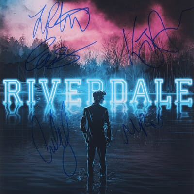 riverdale 12x18 poster print signed by 5 with lili reinhart kj