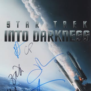 """""""Star Trek: Into Darkness"""" 11x17 Movie Poster Print Signed By (6)"""