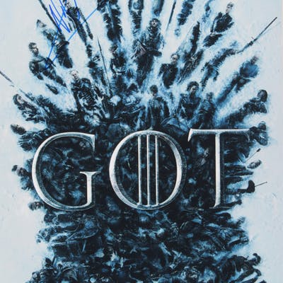 "Nikolaj Coster-Waldau Signed ""Game of Thrones"" 12x18 Poster Print (PSA COA)"