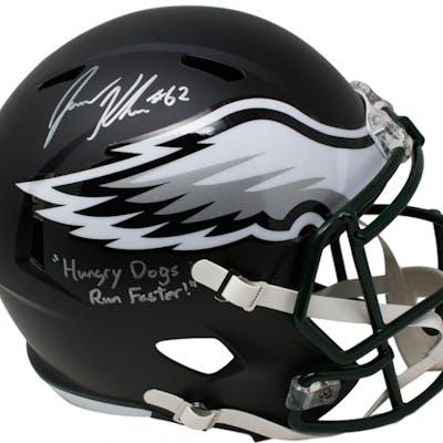 Jason Kelce Signed Philadelphia Eagles Matte Black Full-Size Speed