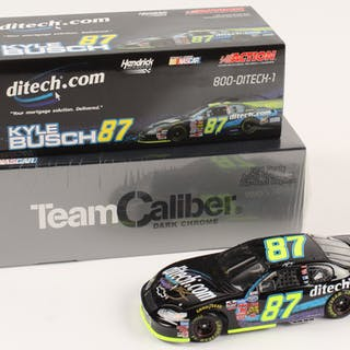 Lot of (2) Kyle Busch 1:24 Scale Die Cast Cars with (1) Signed #87
