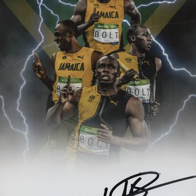 Usain Bolt Signed 8x10 Photo (Beckett COA)