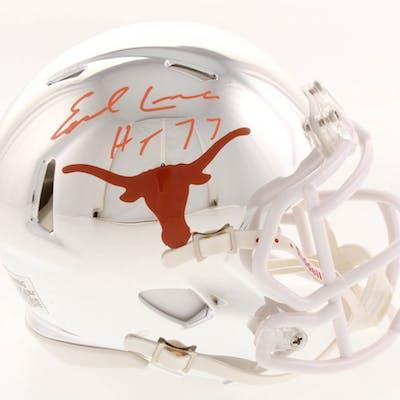 Earl Campbell Signed Texas Longhorns Chrome Speed Mini Helmet Inscribed