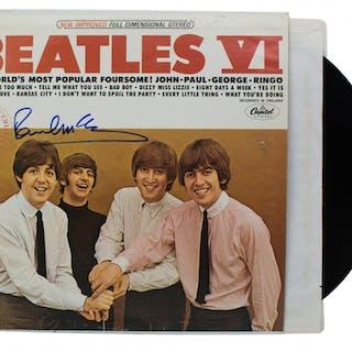 "Paul McCartney Signed The Beatles ""Beatles VI"" Vinyl Record Album"