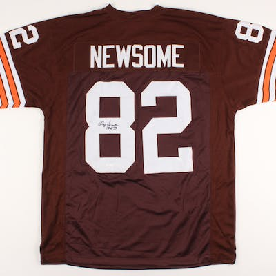 "Ozzie Newsome Signed Jersey Inscribed ""HOF 99"" (JSA COA)"