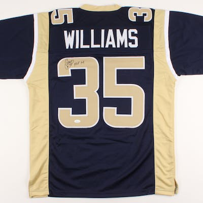 "Aeneas Williams Signed Jersey Inscribed ""HOF '14"" (JSA COA)"