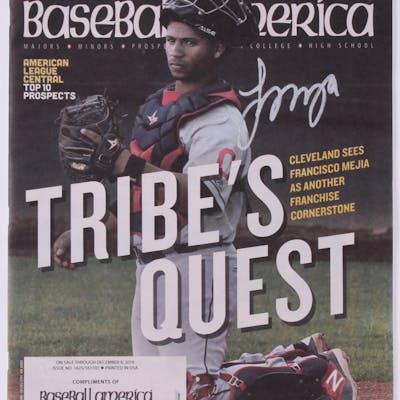 Francisco Mejia Signed 2016 Baseball America Tribes Quest Magazine