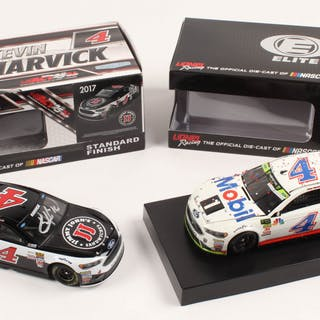 Lot of (2) Kevin Harvick LE 1:24 Scale Die Cast Cars with (1) Signed