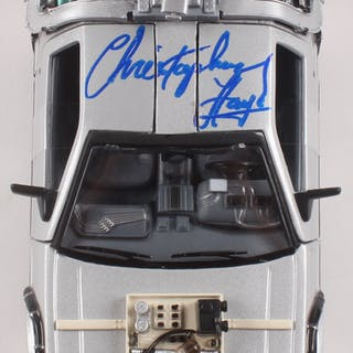 """Christopher Lloyd Signed """"Back to the Future Part III"""" DeLorean 1:24"""