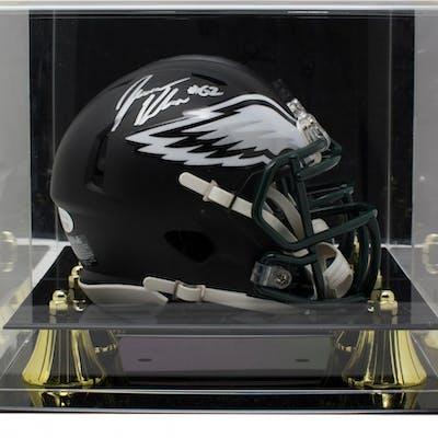 Jason Kelce Signed Philadelphia Eagles Matte Black Speed Mini Helmet
