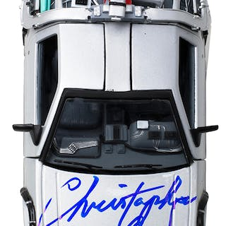 """Christopher Lloyd Signed """"Back to the Future Part II"""" DeLorean 1:24"""