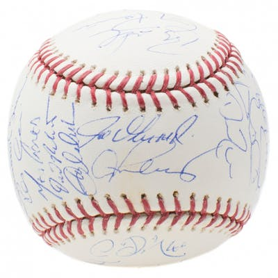 2008 New York Yankees Stadium OML Baseball Team-Signed by (29) with