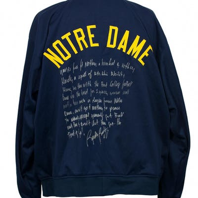 "Rudy Ruettiger Signed Jacket with ""5ft Nothing"" Speech Inscription (JSA COA)"
