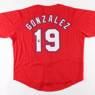 Juan Gonzalez Signed Jersey (JSA COA)
