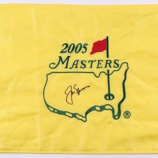 Jack Nicklaus Signed 2005 Masters Golf Pin Flag (JSA LOA)