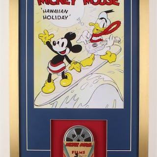 Vintage Walt Disney 17x30 Custom Framed Film Reel Display