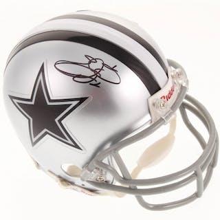 Emmitt Smith Signed Dallas Cowboys Mini Helmet (JSA COA)