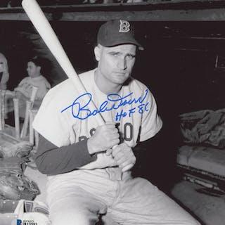 """Bobby Doerr Signed Boston Red Sox 8x10 Photo Inscribed """"HOF 86"""" (Beckett COA)"""