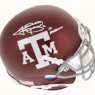 Johnny Manziel Signed Texas A&M Aggies Matte Maroon Mini Helmet Inscribed